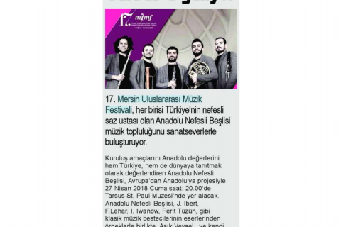 17. Mersin Uluslararası Müzik Festivali