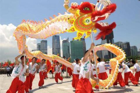 Pekin Ejderha ve Aslan Sokak Gösterisi