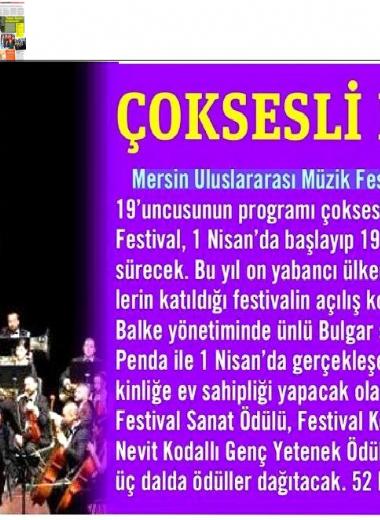 19. Mersin Uluslararası Müzik Festivali